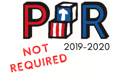 PIR Not Required for 2019-2020